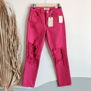 NEW Lucky Brand High Rise Tomboy Distressed Jeans